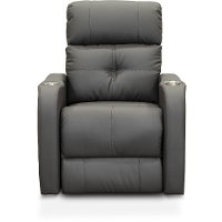 Modern Graphite Gray Standard Power Theater Recliner - HTS