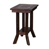 Rustic Mahogany Chair Side Table - Santa Fe