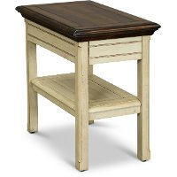 Linen White Chairside Table - Sutters Creek