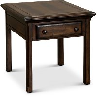 Traditional Brown End Table with Drawer - Jamestown