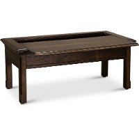 Burnished Brown Slidetop Cocktail Table - Jamestown