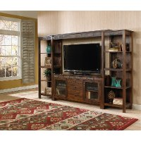 Rustic Brown 4 Piece 60 Inch Entertainment Center - Santa Fe