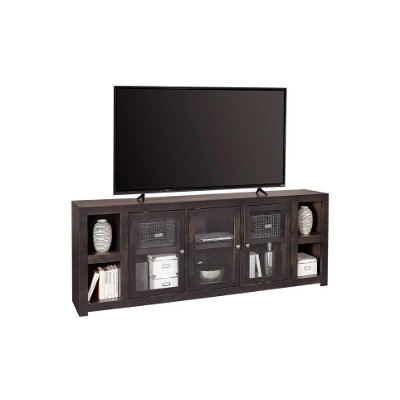 84 inch Black TV Stand - Avery