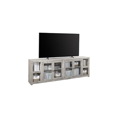 97 Inch Light Gray TV Stand - Avery