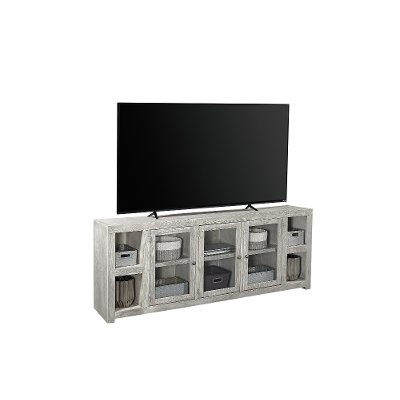 84 Inch Light Gray TV Stand - Avery