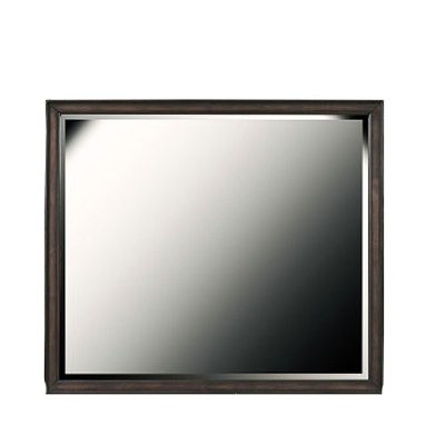 Contemporary Espresso Brown Mirror - Granite Falls