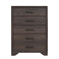 Espresso Brown Chest of Drawers - Granite Falls