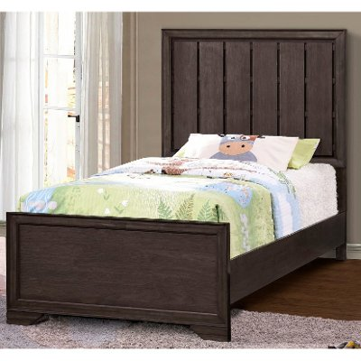 Contemporary Brown Twin Bed - Granite Falls