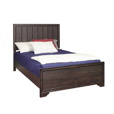 Contemporary Brown Full Size Bed - Granite Falls