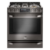 LSSG3020BD LG Studio 6.3 cu. ft. Gas Slide-in Smart Range with Convection Cooking - Black Stainless Steel