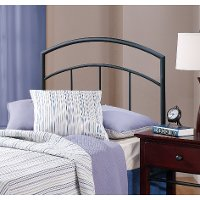 1169-34 Contemporary Black Twin Metal Headboard - Julien