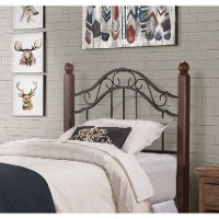 KIT Traditional Black and Brown Twin Headboard - Madison