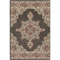 ALF9671-73106 7 x 10 Large Camel Brown Indoor-Outdoor Rug - Alfresco