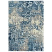 8 x 10 Large Contemporary Blue Rug - Artistry