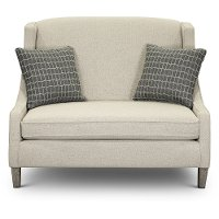 Stone Wingback Sette with Charcoal Throw Pillows - Prost