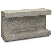 Modern Gray Oak Sofa Table - Nova