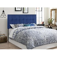 Navy Blue Full, Queen Upholstered Headboard - Samara