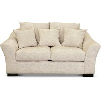 Contemporary Off-White Loveseat - Morgan