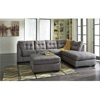 Gray 2 Piece Sectional Sofa with RAF Chaise - Maier