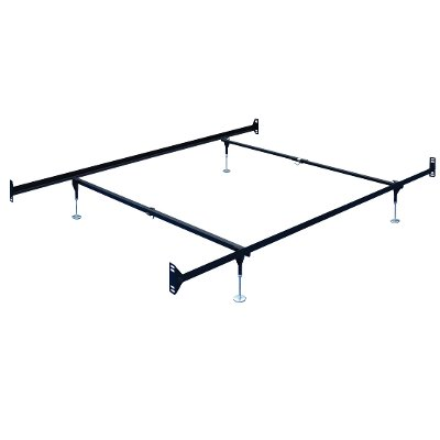 50DBL Brown Steel Twin-Full Size Bed Frame - Double-End