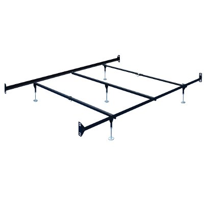 60DBL Brown Steel Queen Bed Frame - Double-End