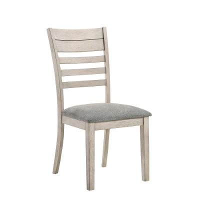 Contemporary White Dining Room Chair - White Sands