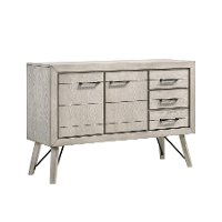 Contemporary White Dining Sideboard - White Sands