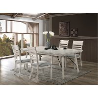 Contemporary White 5 Piece Dining Set - White Sands