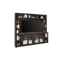 Black 2 Piece Entertainment Center - Avery Loft