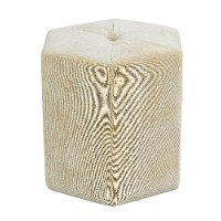 Gold Contemporary Cube Ottoman