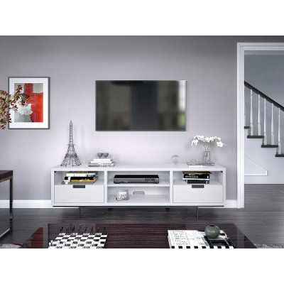 78 Inch White Fireplace Tv Stand Wynwood Rc Willey Furniture Store