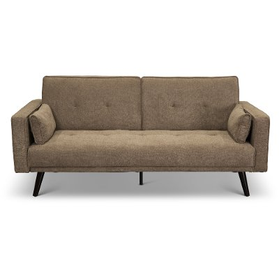 Cozy Chestnut Brown Convertible Sofa Bed - Jenna