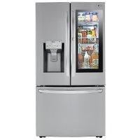 LRFVC2406S LG 23.5 cu. ft. French Door-in-Door Smart Refrigerator with InstaView and Craft Ice - Stainless Steel
