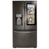 LRFVC2406D LG 23.5 cu. ft. French Door-in-Door Smart Refrigerator with InstaView and Craft Ice - Black Stainless Steel