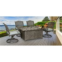 Traditional 5 Piece Patio Fire Pit Set - Macan