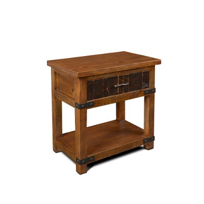 Rustic Pine Nightstand - Big Timber