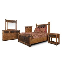 Rustic Pine 4 Piece King Bedroom Set - Big Timber