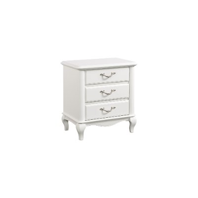 Traditional White Nightstand - Kelly