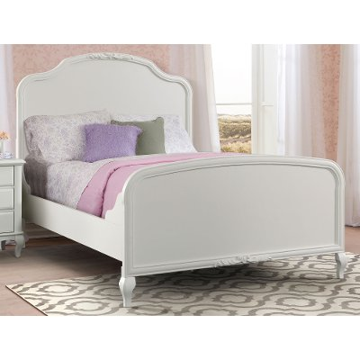 Traditional White Twin Bed - Kelly