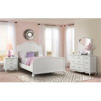 Traditional White 4 Piece Twin Bedroom Set - Kelly