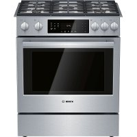 HGI8056UC Bosch 30 Inch Slide In Gas Range - 4.8 cu. ft. Stainless Steel