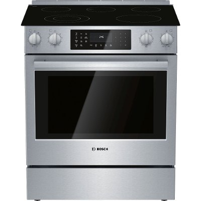 HEI8056U Bosch 4.6 cu. ft. Electric Convection Slide In Range - 30 Inch Stainless Steel