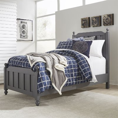 Country Gray Twin Bed - Cottage View