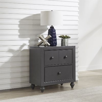 Country Gray Nightstand - Cottage View