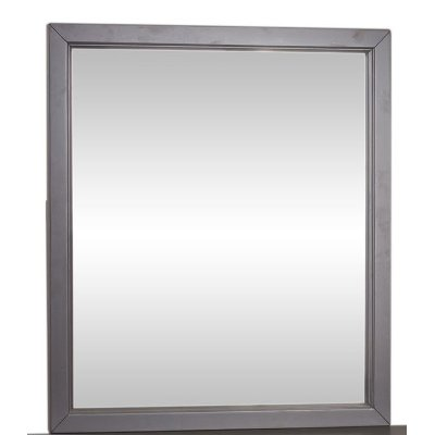 Country Gray Mirror - Cottage View