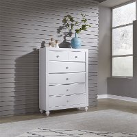 Country White Chest of Drawers - Cottage View