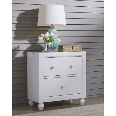 Country White Nightstand - Cottage View