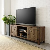 70 Inch Modern Farmhouse TV Stand - Rustic Oak