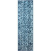 H114-NV-2.6X8-Z048 Traditional Nolan Navy Blue 8 Foot Runner Rug - Heritage