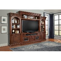 Traditional 4 Piece Entertainment Center - Franklin